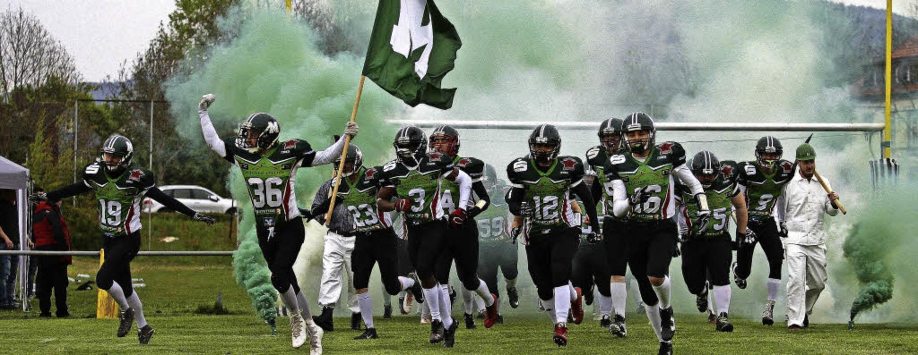 <BZ-FotoAnlauf>American Football: </BZ...arteten mit einem Sieg in die Saison.   | Foto:  Verein