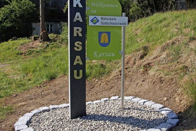 Neue Schilder für die Ortseingänge von Karsau