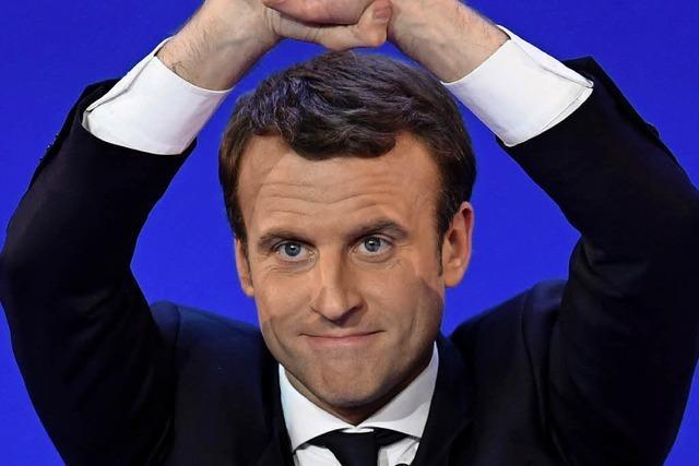 Macron, Fillon und Le Pen auf den vorderen Plätzen