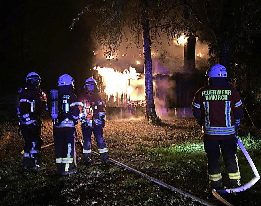 Brand Anglerheim  | Foto: Feuerwehr Gottenheim
