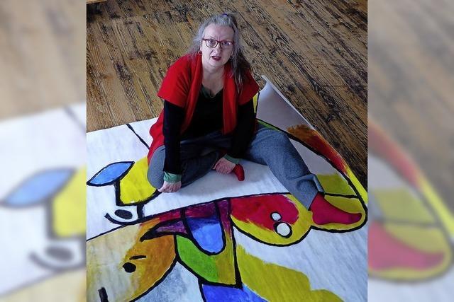 Isolde Wawrin liebt das spontane Jonglieren mit Farben und Formen