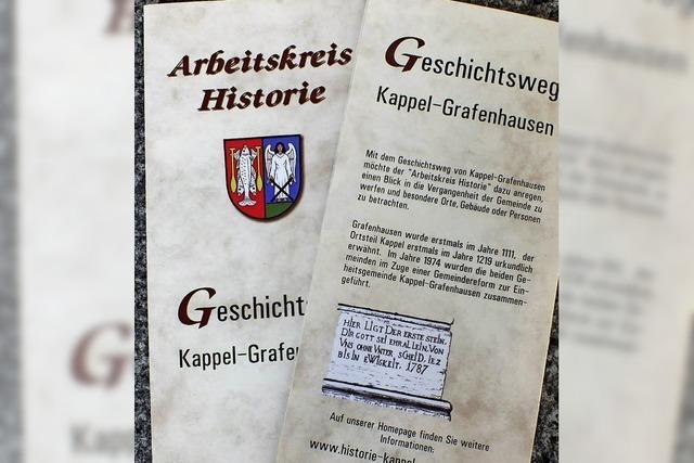 Der Flyer für den Geschichtsweg ist fertig