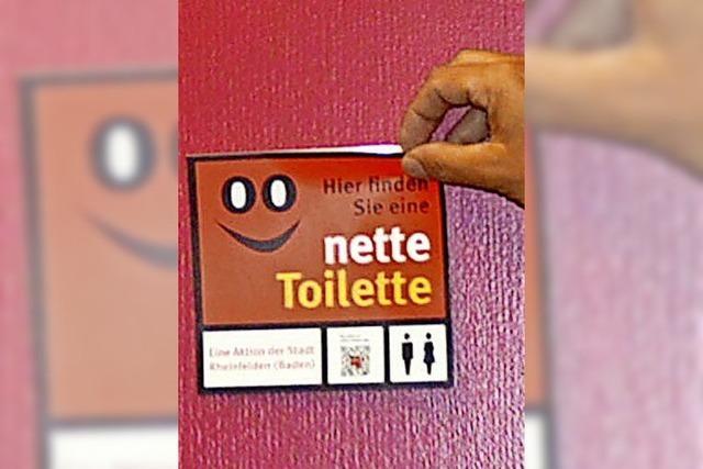 Der Aufkleber nette Toilette öffnet die Türen