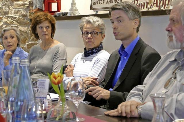 Unterwegs im Wahlkampf mit Kandidat... Thomas Pantel