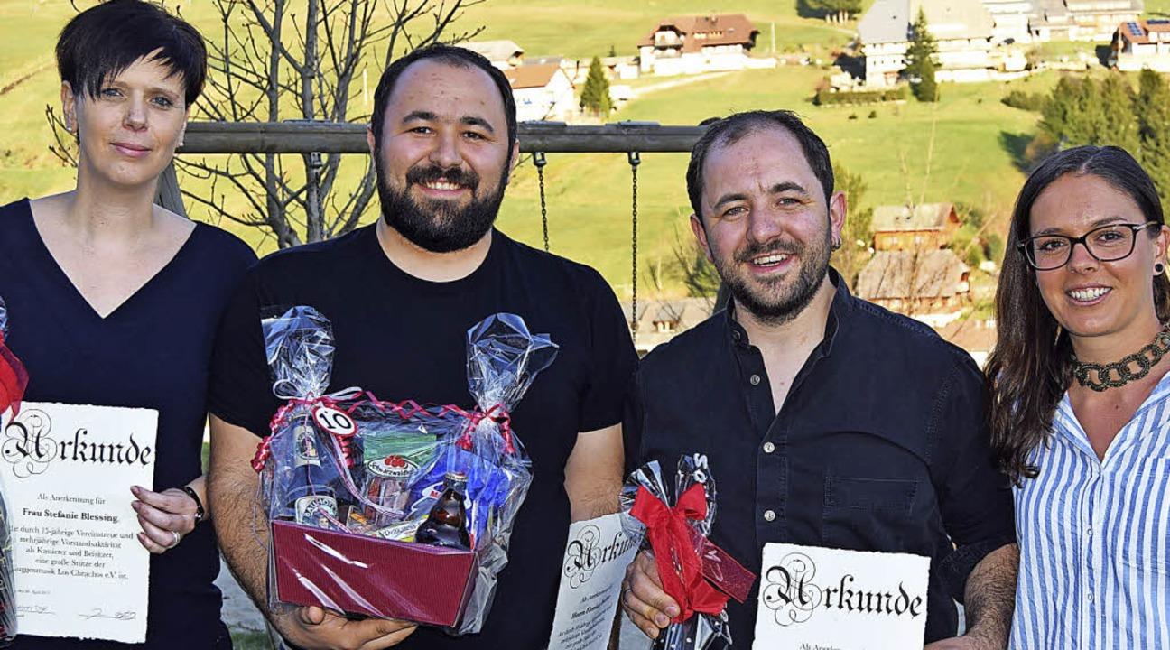 Ehrungen in einem noch jungen Verein: ...Florian Faller und Stefanie Blessing.     Foto: Ulrike Jäger