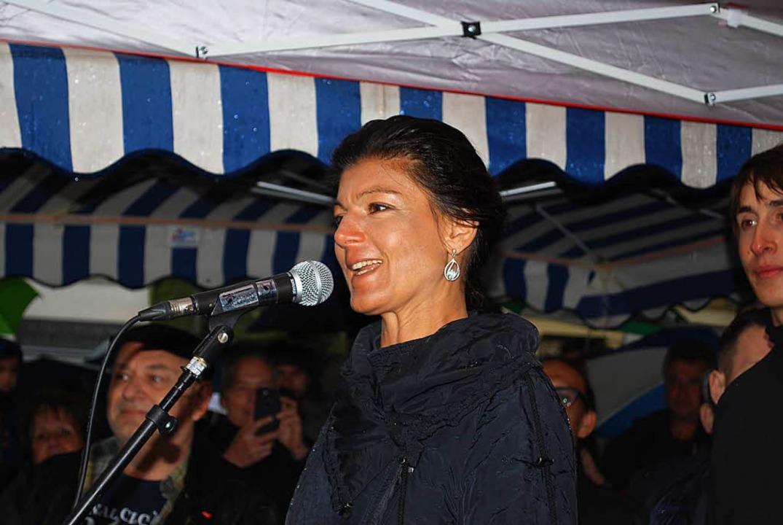 Sahra Wagenknecht in Lörrach  | Foto: Thomas Loisl Mink