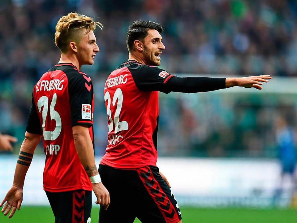 Maximilian Philipp und Vincenzo Grifo ...beim SC Freiburg ist unwahrscheinlich.  | Foto: dpa