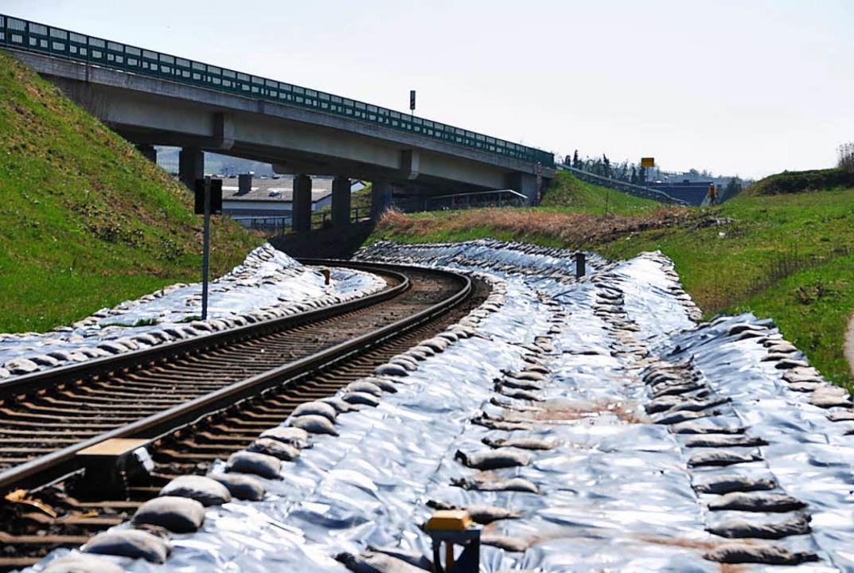 Da die Bahnlinie eine elektrische Ober... vor Gottenheim, tiefer gelegt werden.  | Foto:  Manfred Frietsch
