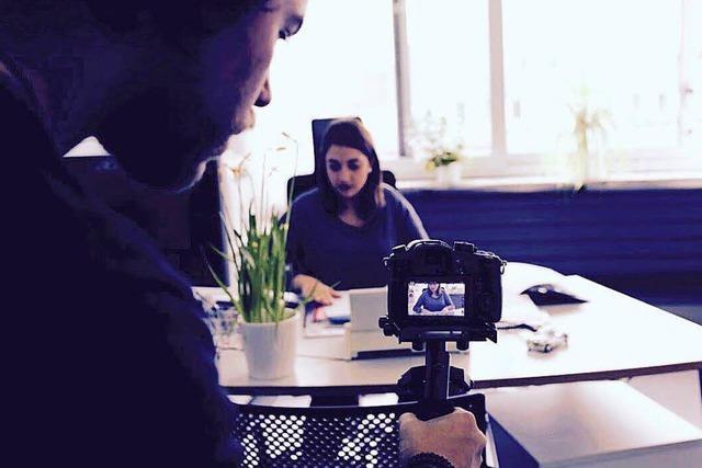 Azubis der Stadt Weil drehen Werbefilm
