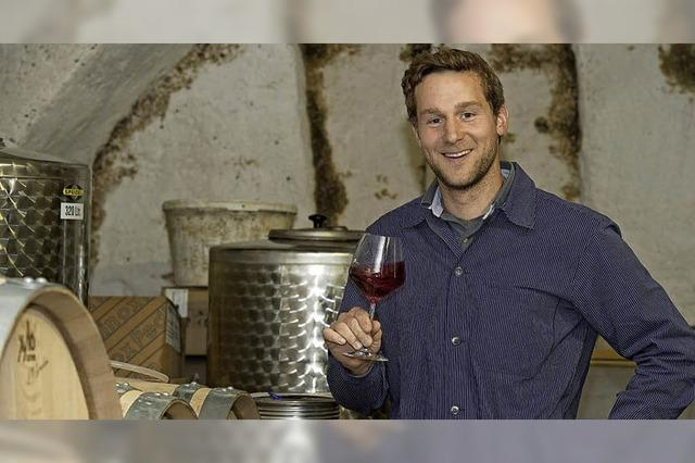 Uli Waldkirch aus Feldberg stellt am Weinmarkt erstmals sein Sortiment vor