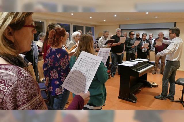 Herausforderung aus Spaß am Singen