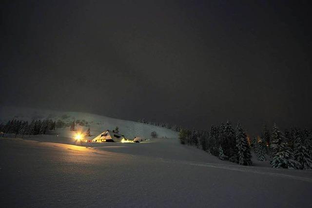 Puderzucker bei Vollmond: eine nächtliche Skitour am Feldberg