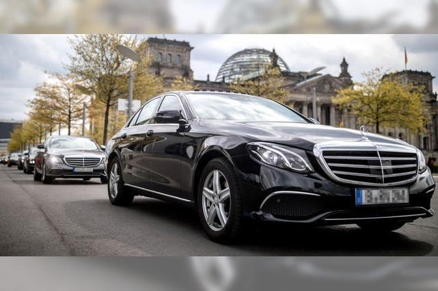 Bundestags-Chauffeure protestieren in Berlin