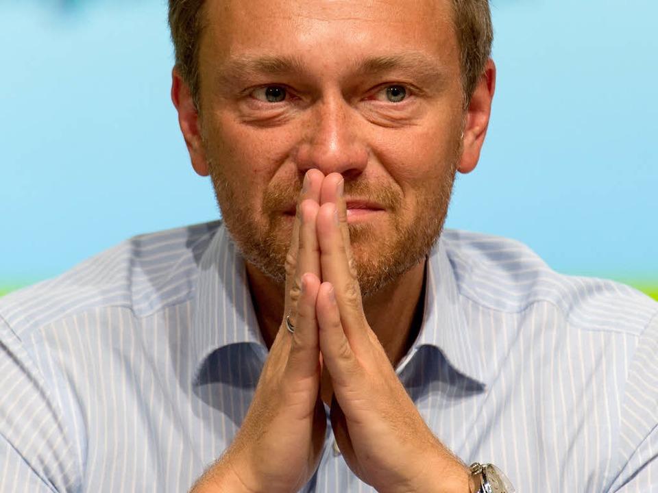 FDP-Bundesvorsitzender Christian Lindner    Foto: dpa