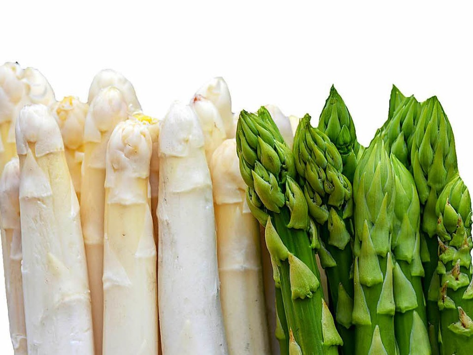 weiß oder grün, gerade oder krumm: Spargel ist Geschmackssache  | Foto: Ralf Hirschberger