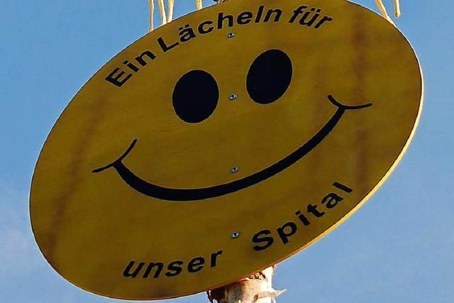 Symbol des Protests: Ein Maibaum fürs Spital Bad Säckingen