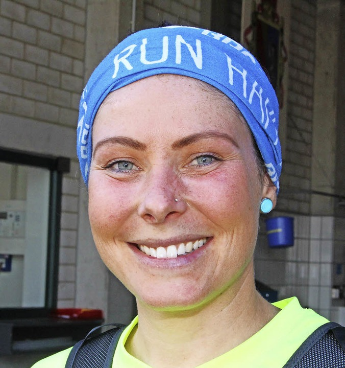 "<BZ-Keyword>Jeanette Bürgi (30) aus Lö...as Teamgefühl dabei ist  super.""  | Foto: Anja Bertsch"