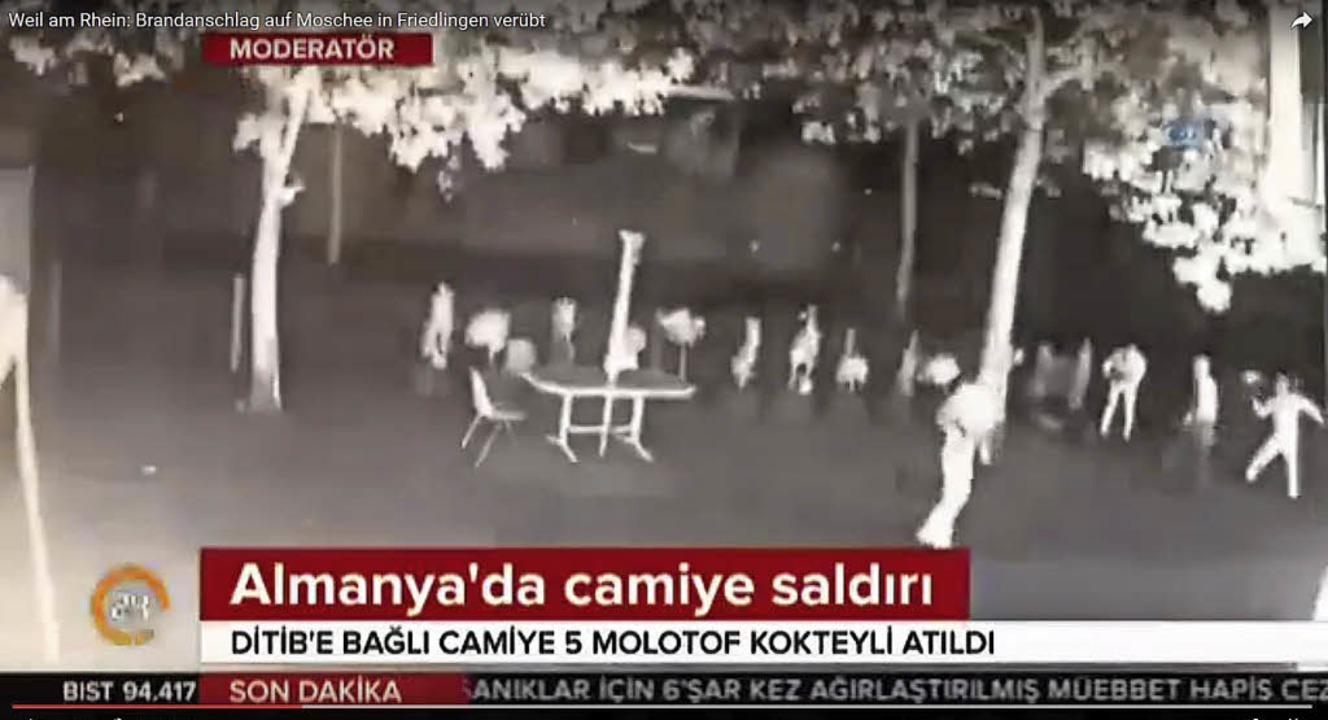 """""""Angriff auf  Moschee in Deutsch...ag und zeigte die Überwachungsvideos.     Foto: REPRO: SENF"""