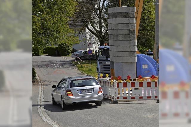 Baustelle belastet Verkehr