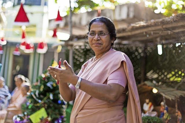 Die Freiburger Fotografin Carlotta Huber zeigt Bilder starker indischer Frauen in der Gundelfinger Raiffeisenbank
