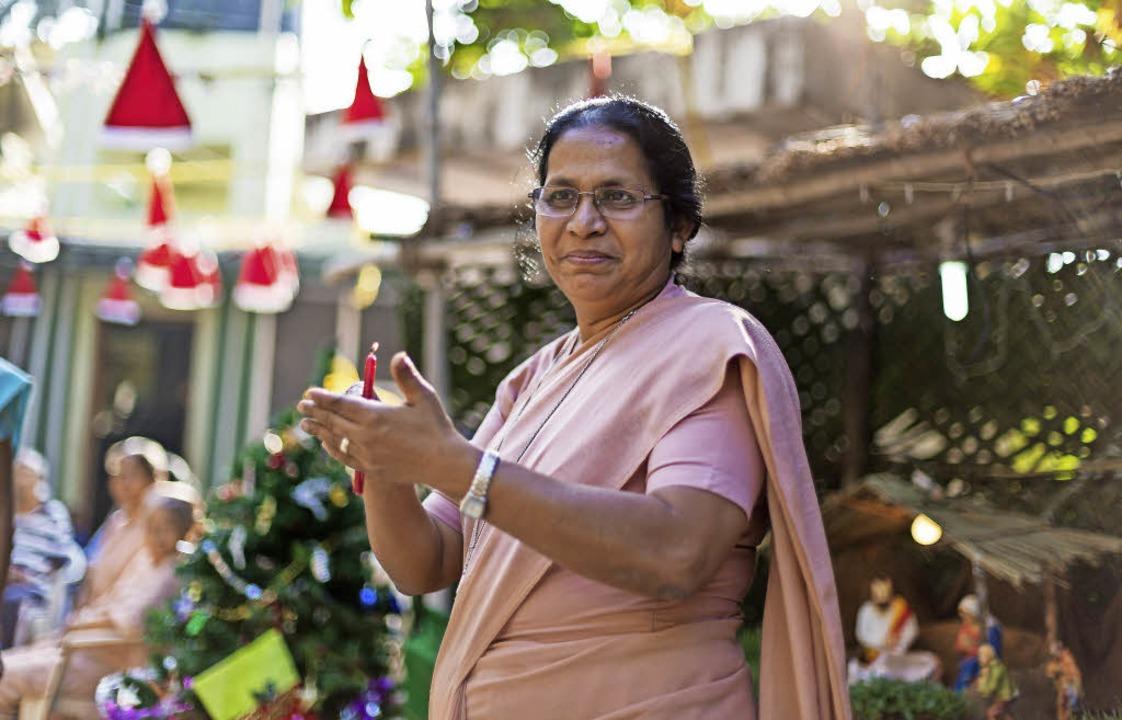Schwester Stella kommt nach Gundelfing...ta Huber hat sie in Indien getroffen.   | Foto: Huber/Schneider