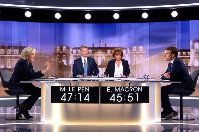 Giftiger Schlagabtausch: Le Pen gegen Macron im TV-Duell