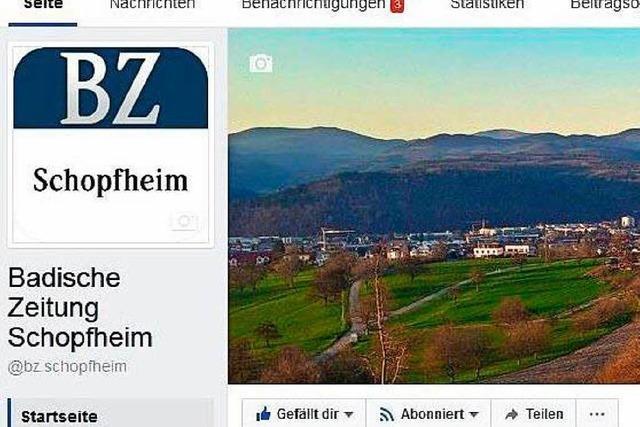 Die Redaktion Wiesental ist jetzt bei Facebook