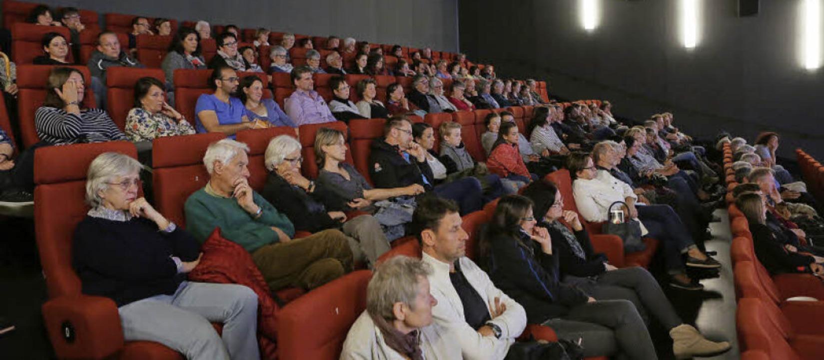 """120 Zuschauer sahen im Lahrer Kino den Film """"Drei von Sinnen"""".     Foto: Christoph Breithaupt"""