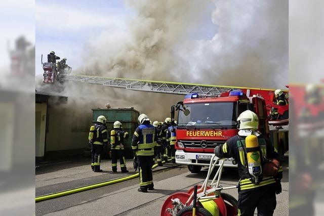 Gebäudevollbrand in Tiengen
