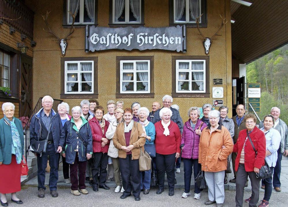 """Zum Abschluss der AWO-Rundfahrt gab es...en im """"Hirschen"""" in Präg.     Foto: Privat"""