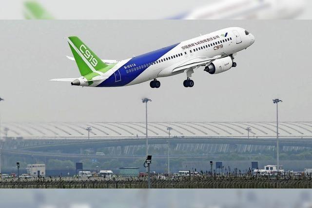 Chinas erster Mittelstreckenjet gilt als künftiger Konkurrent für Airbus