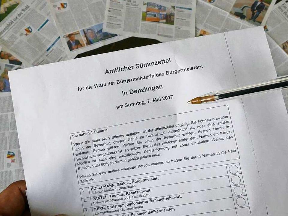 Viel wurde berichtet über die Kandidaten, am Sonntag wird gewählt.    Foto: Max Schuler