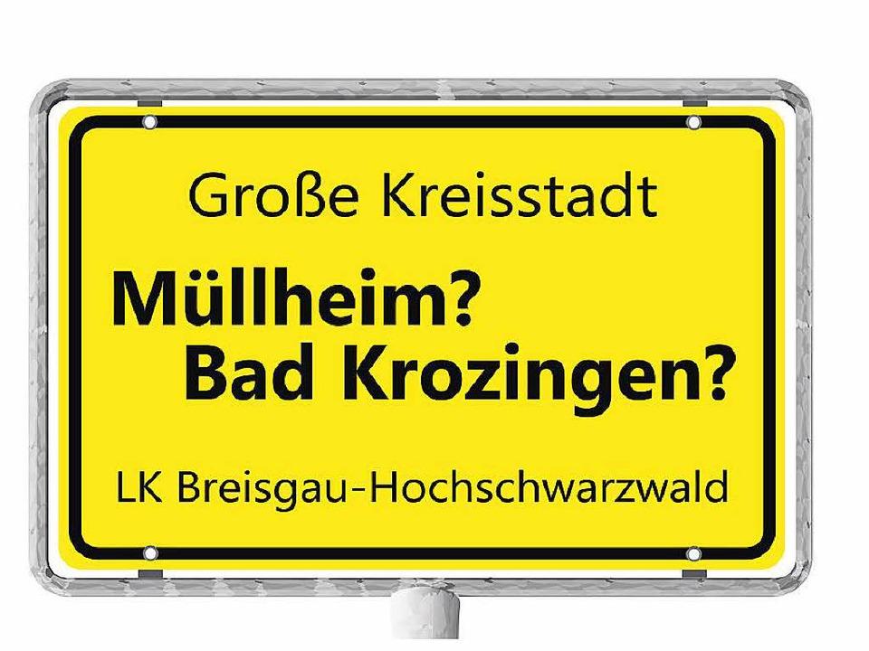 Müllheim und Bad Krozingen wollen mehr...d  neue Ortsschilder wären auch drin.   | Foto: Grafik: BZ