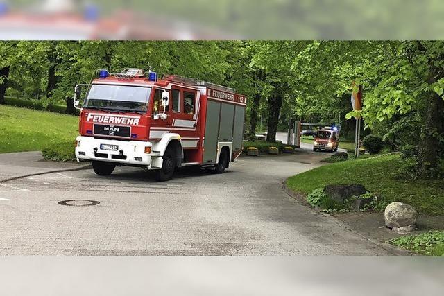 Feuerwehr übt den Ernstfall