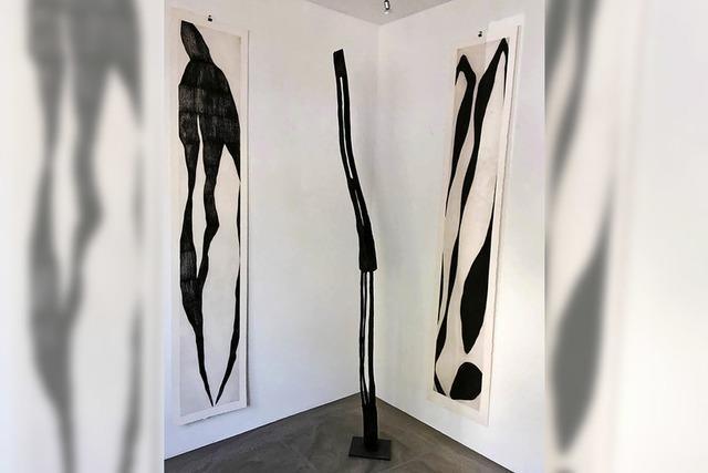 Skulpturen von Armin Göhringer und Malerei von Michel Cornu in Offenburg