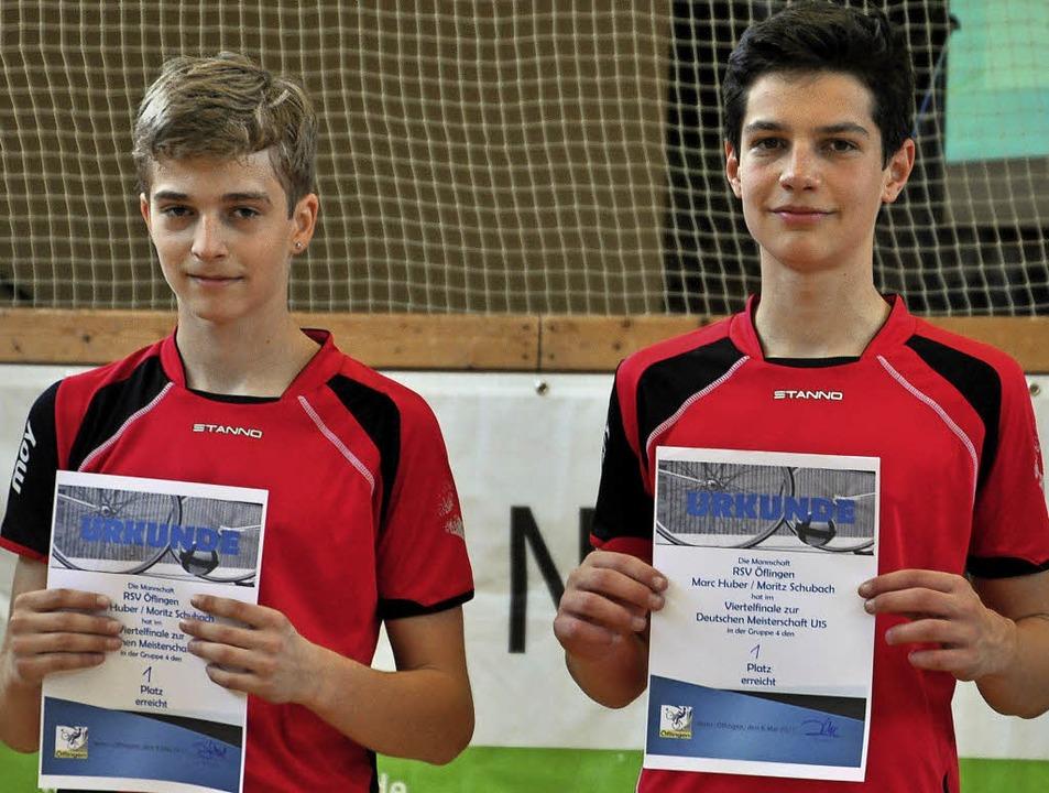 Marc Huber (links) und Moritz Schubach   | Foto: Huber