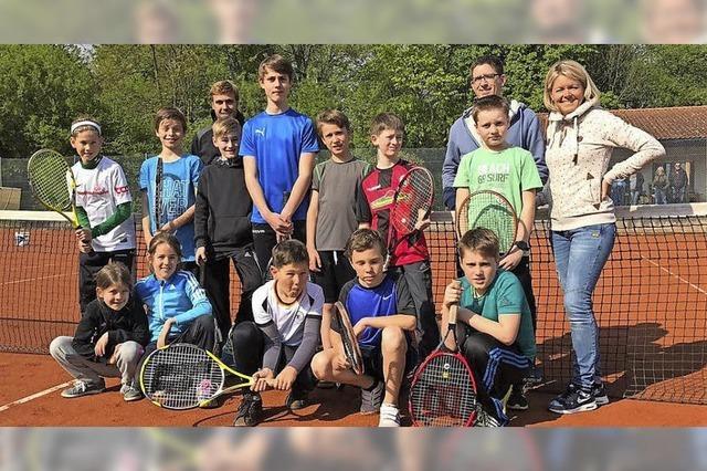 Hochstimmung auf der Tennisanlage