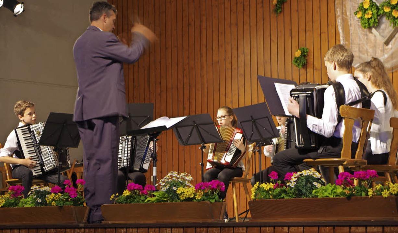 Das Jugendorchester eröffnete das Frühjahrskonzert.  | Foto: Katharina Bächle