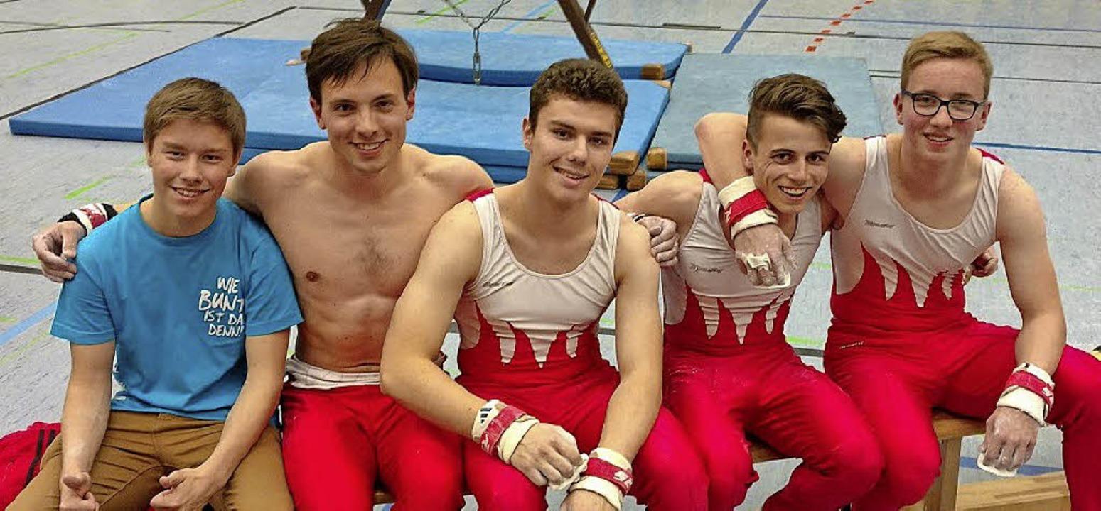 Turnen Wettkampfgemeinschaft TG Altdor...r, Ruben Hanke, David Lang (von links)  | Foto: Verein