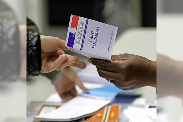 Nur in Rhinau liegt Le Pen vorne