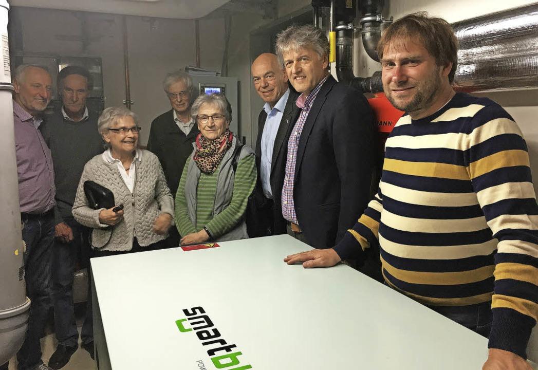 EWS-Geschäftsführer Daniel Weiß, Bürge...nahme  des neuen Blockheizkraftwerks.   | Foto: ZVG
