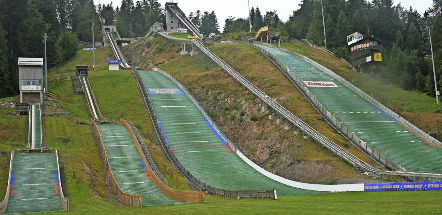 Auch die Bewertung des Adler-Skistadions  stand an.     Foto: Dieter Maurer