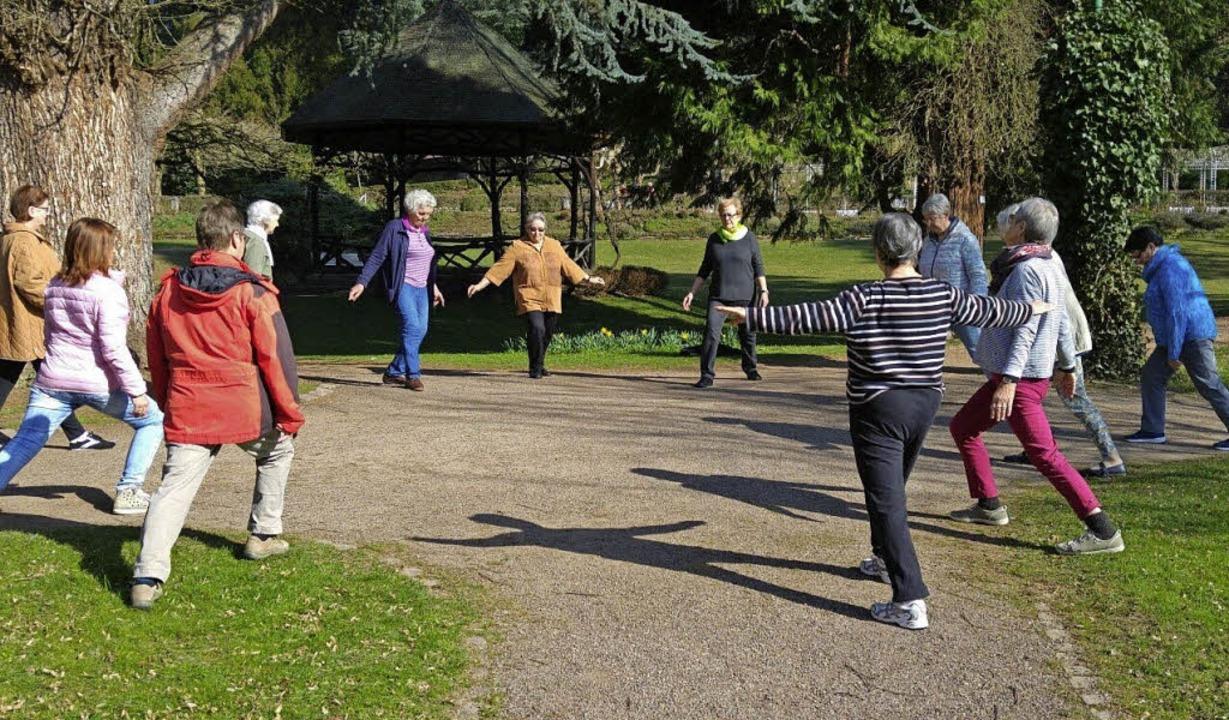 Zu Sport im Freien lädt der Stadtsenio...b kommendem Donnerstag regelmäßig ein.    Foto: SSR
