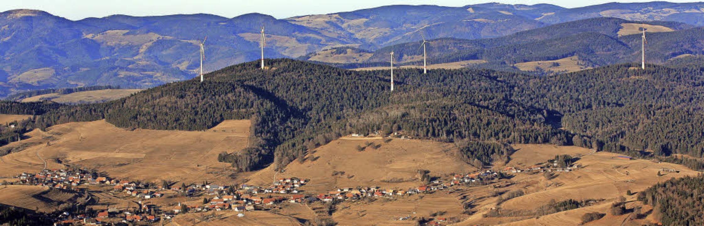Noch ist unklar, wie der Landschaftsau...Windpark Rohrenkopf am Ende aussieht.   | Foto: Erich Meyer