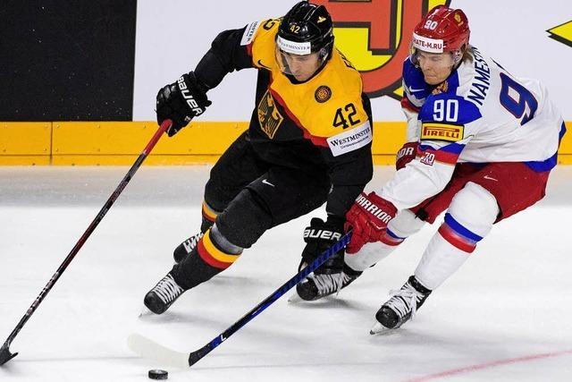 Deutsches Eishockeyteam beweist gegen Russland Moral