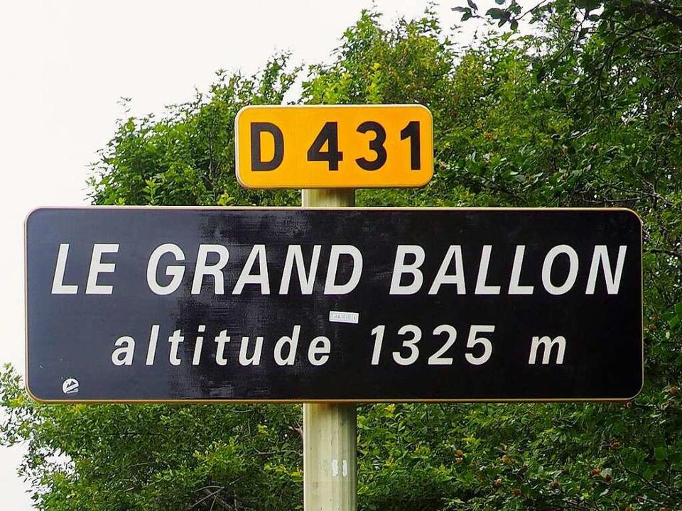 Der Gipfel des Grand Ballon auf 1325 Meter  | Foto: Theresa Peter