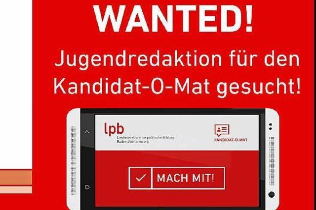 Jugendredaktion für den Kandidat-O-Mat gesucht