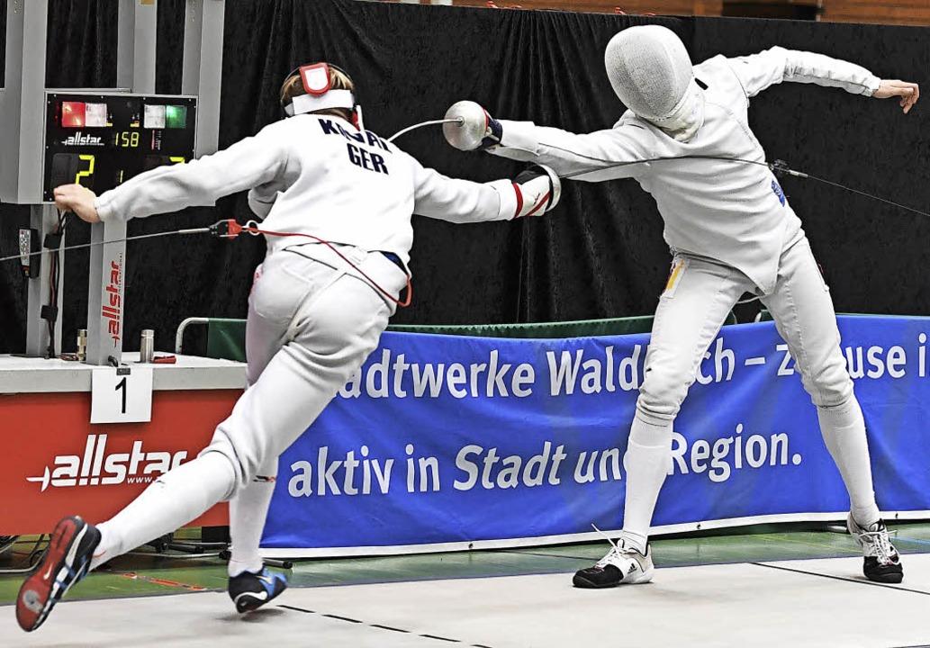 Im Finale setzte sich  Louis Bongard (...rän mit 15:8 gegen Anton Koval durch.   | Foto: Achim Keller