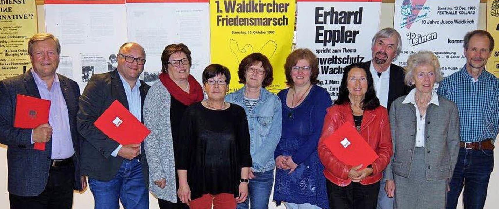 Mitglieder-Ehrung beim SPD-Ortsverein Waldkirch.   | Foto: ZVG