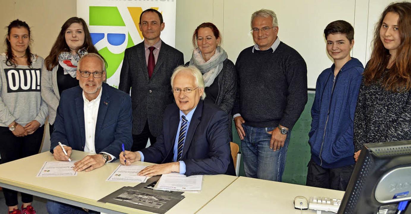 Christian Ramm (vorne rechts) und Uwe ...nd Antonia Gremmelspacher (von links)   | Foto: Lück